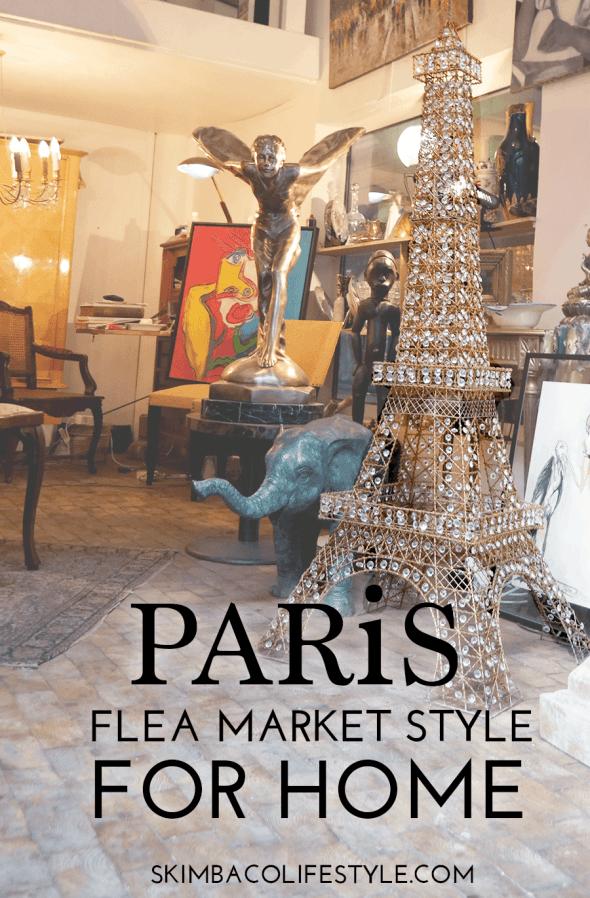 paris flea market style as home decorating inspiration