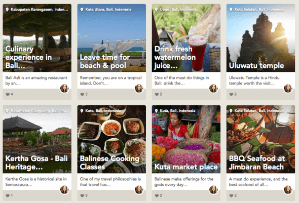 Bali favorites on Findery