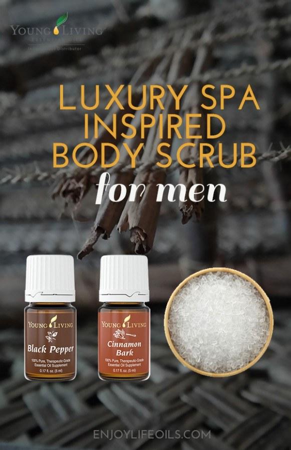 Energizing body scrub for men via @enjoylifeoils