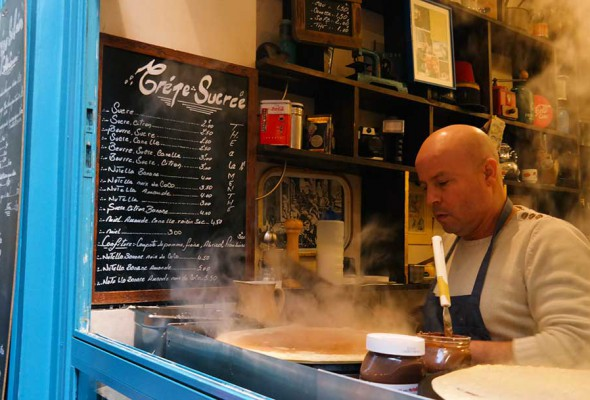Crepes in La Marais in Paris