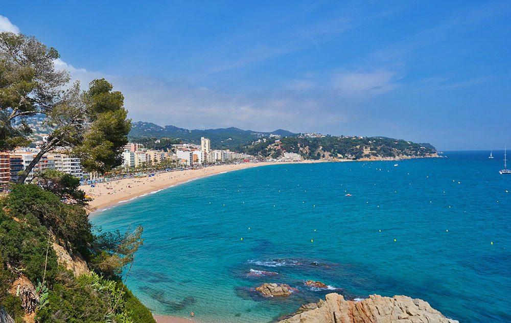 Lloret de Mar beach in Spain