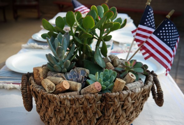 two easy 4th of July table centerpieces with things you already have