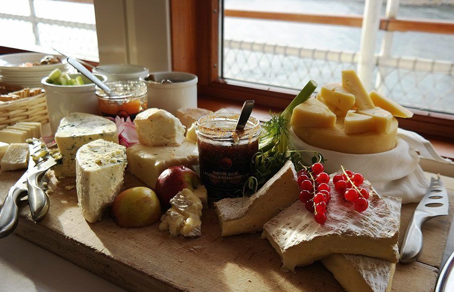 Cheese selection in Swedish Smörgåsbord | Travel feature by @skimbaco