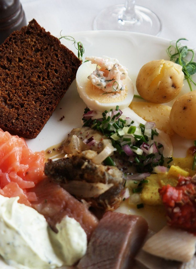 herring and eggs in Swedish Smörgåsbord | Travel feature by @skimbaco