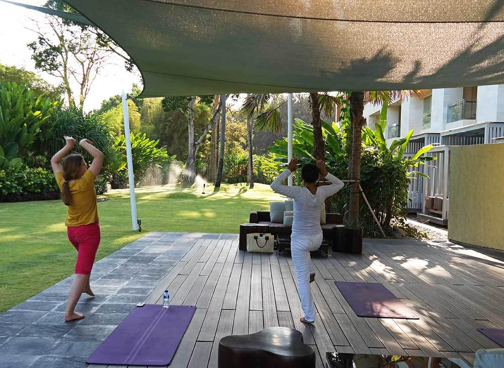 Thai chi and yoga classes at the Westin in Bali