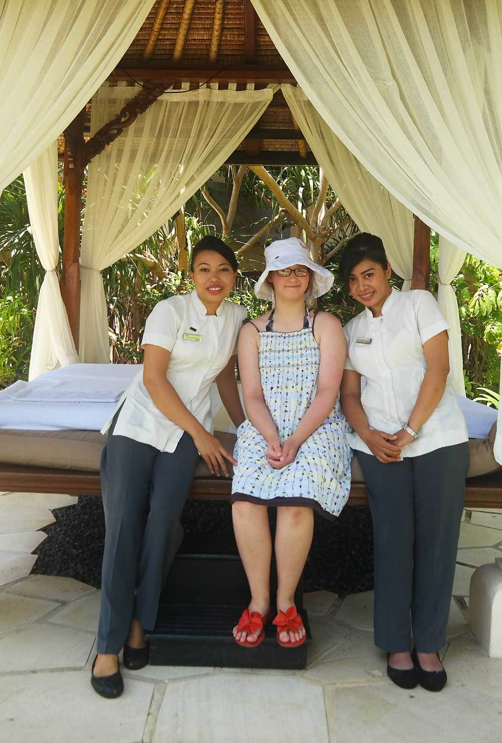 Mommy and me spa day at Westin Nusa Dua