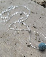 JUST ONE DROP diffuser lava bead necklace