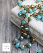 Large-Crystal-Crochet-Strand-with-Turquoise-Lava-Bead-diffuser-necklace-luxury