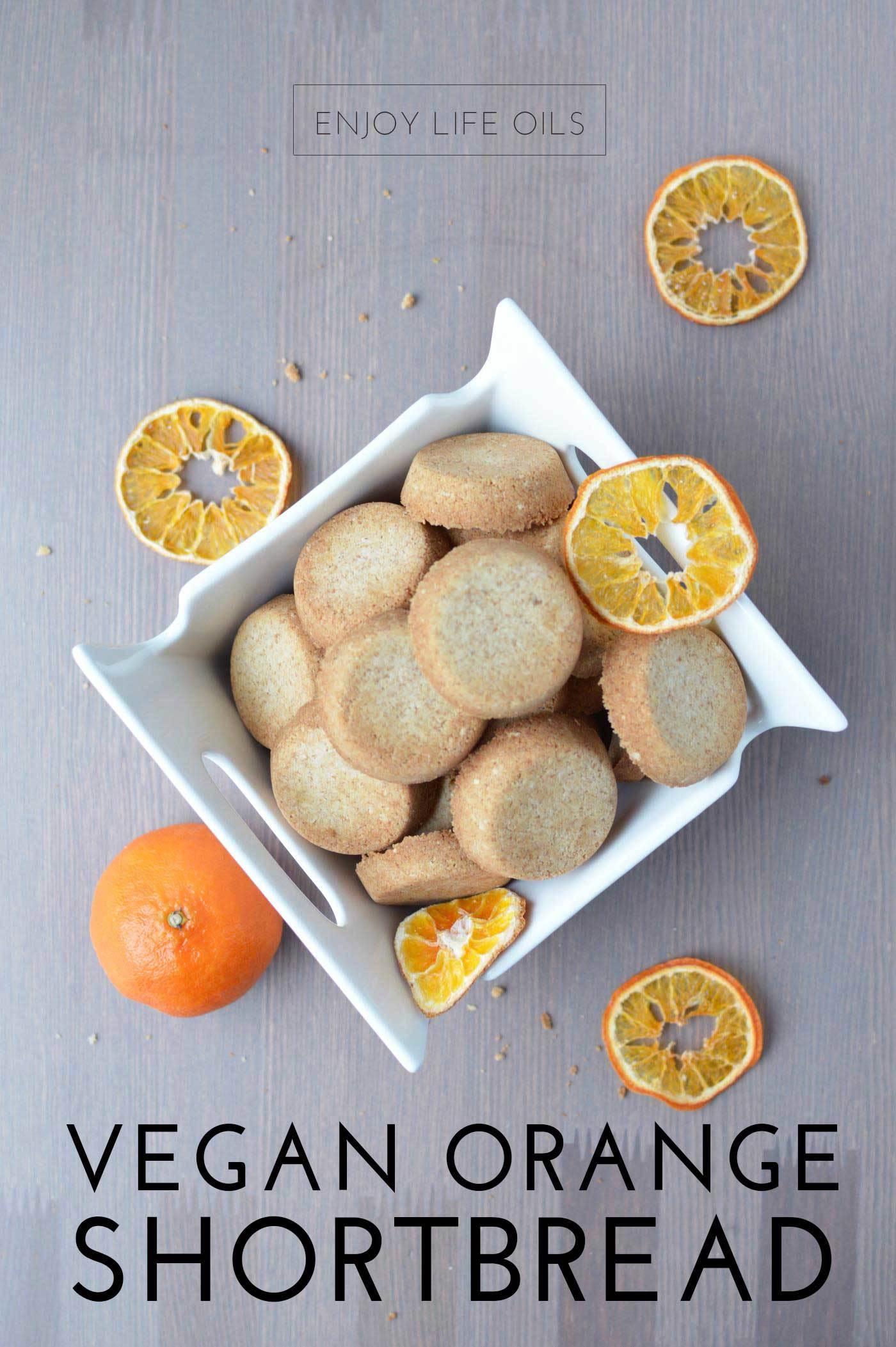 vegan orange shortbread recipe with orange essential oils via @skimbaco