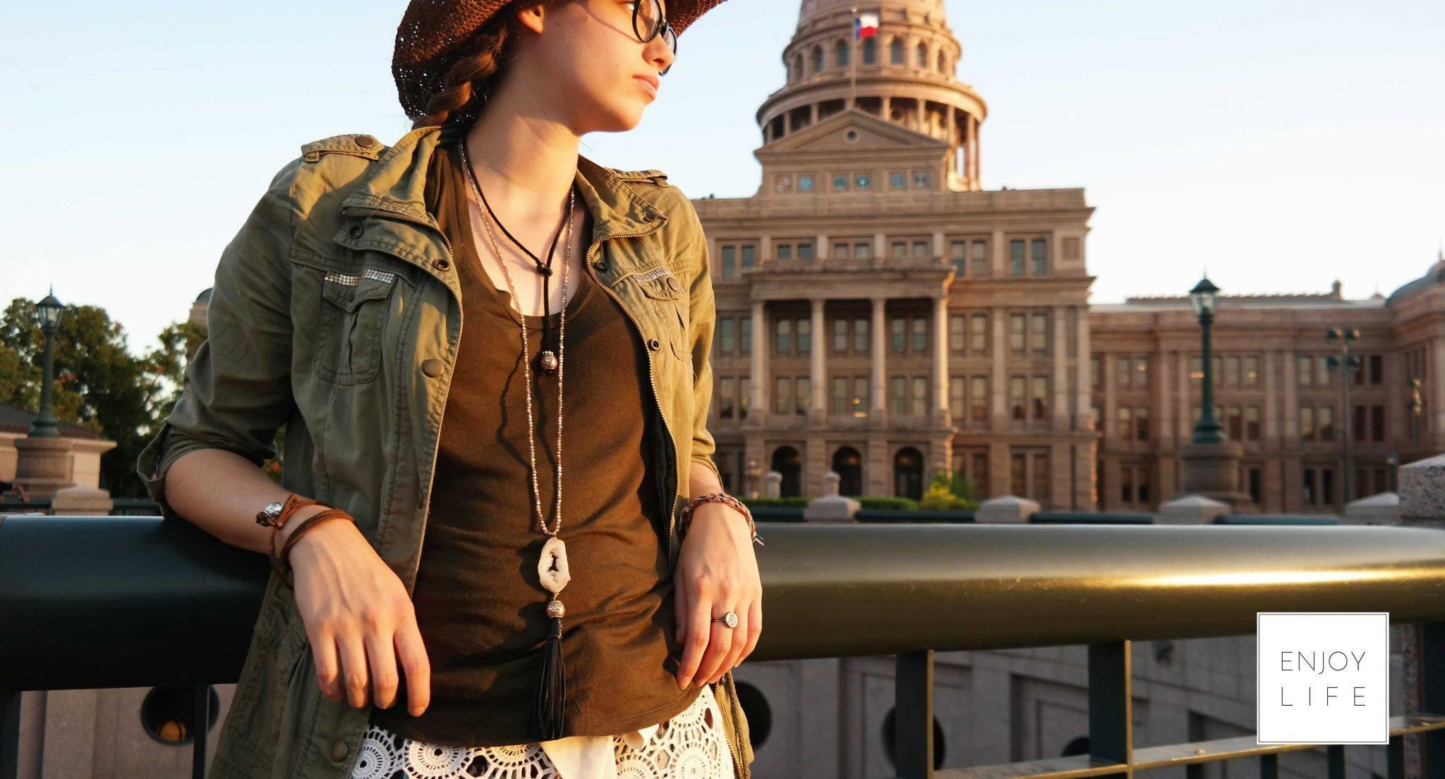 Artisan diffuser jewelry, handmade in Texas, USA.