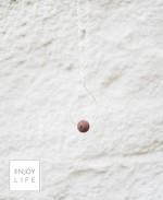 Just One Drop brown lava bead in silver hoop