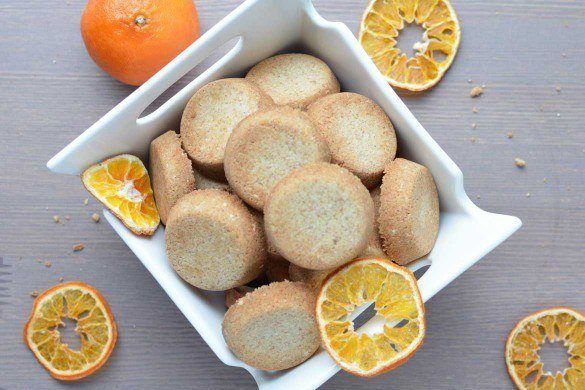 Vegan Orange shortbread with essential oils recipe