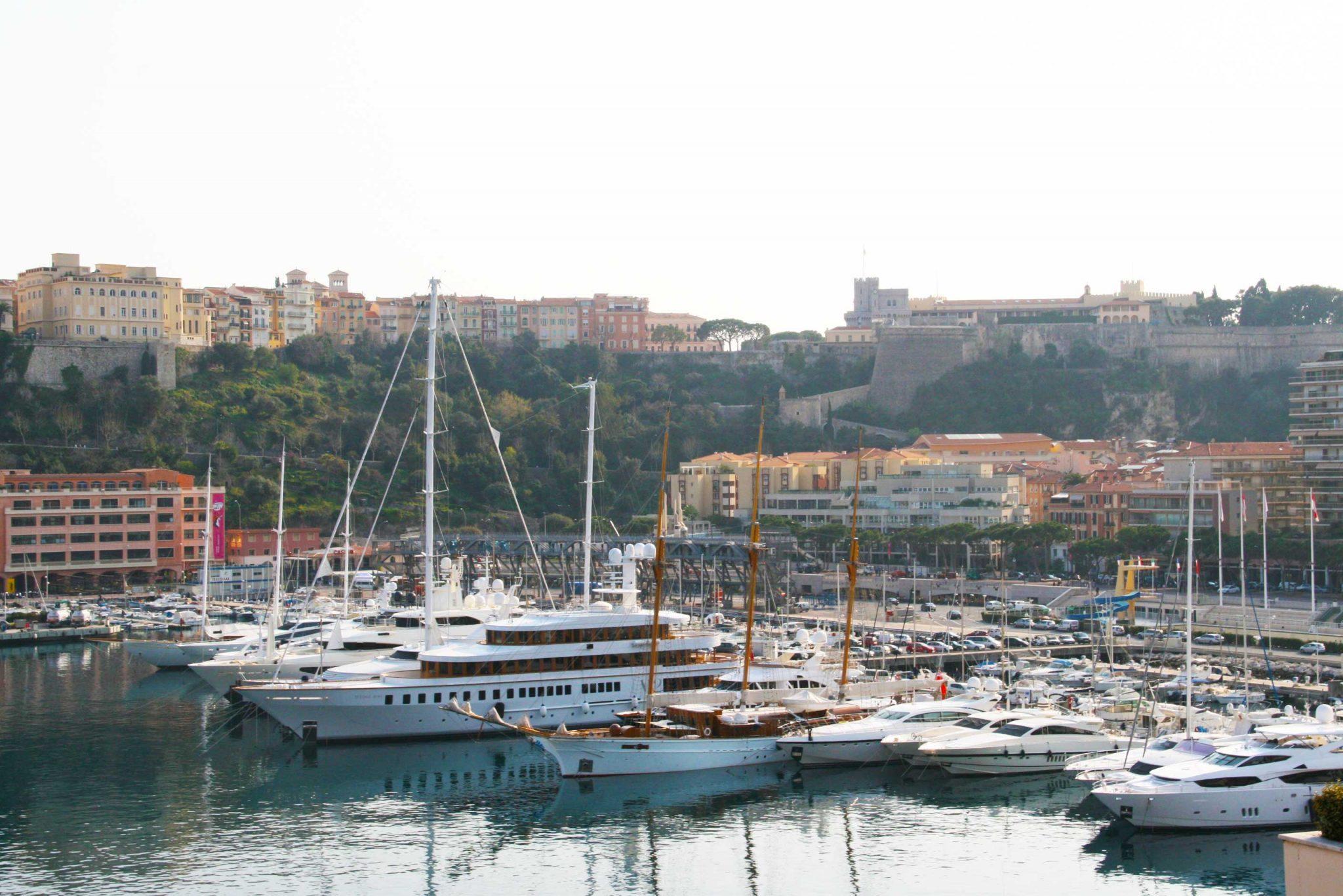 Boats in Monaco marina