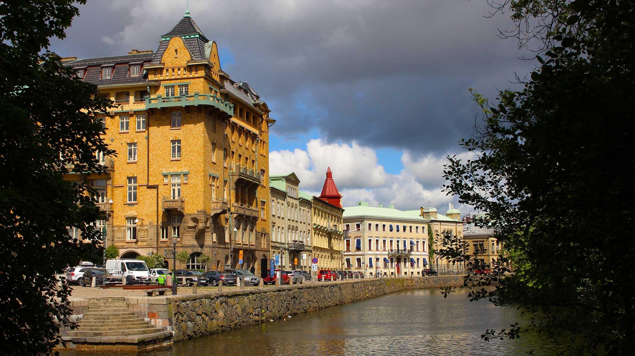 Gothenburg, Sweden. Canal through the city.