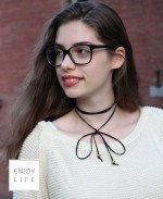 diffuser choker wrap necklace
