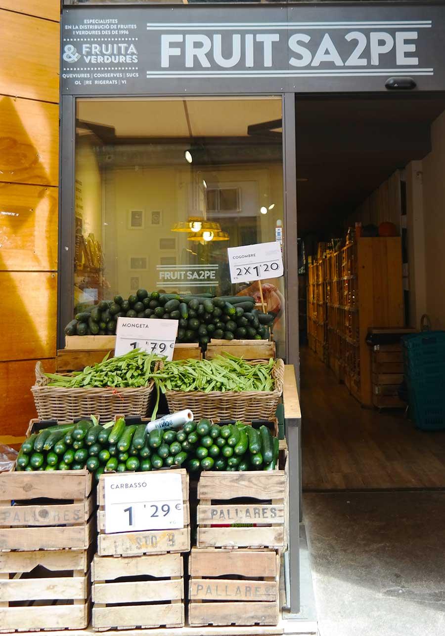 Vegetable shop in Spain